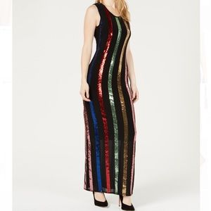 NWT GUESS rainbow sequin dress sz Small